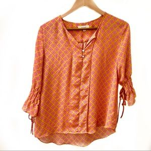 Umgee sheer geometric boho top #
